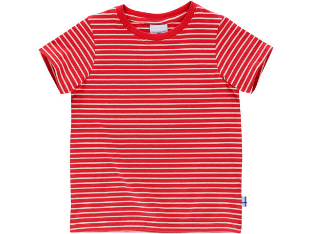 Finkid Supi T-Shirt Enfant, red/offwhite